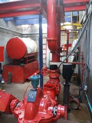 sala de bombas contra incendio