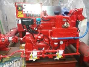 motor diesel sala de bombas