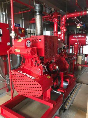 sistemas contra incendios, red húmeda y seca